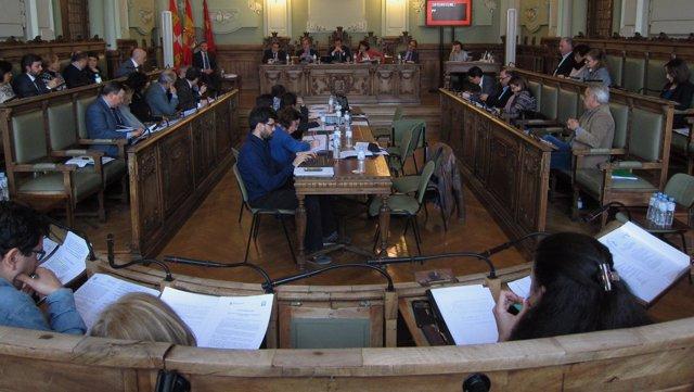 Pleno municipal de Valladolid en enero de 2017