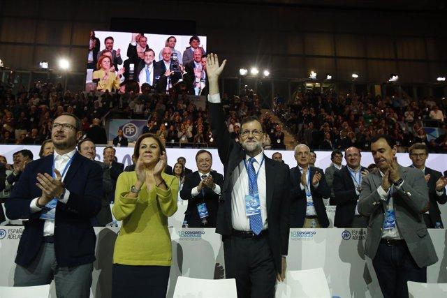 Mariano Rajoy y Dolores de Cospedal, en el Congreso del PP