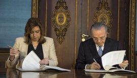 La Caixa aumentará hasta 58 millones su inversión en Andalucía tras un acuerdo con Susana Díaz