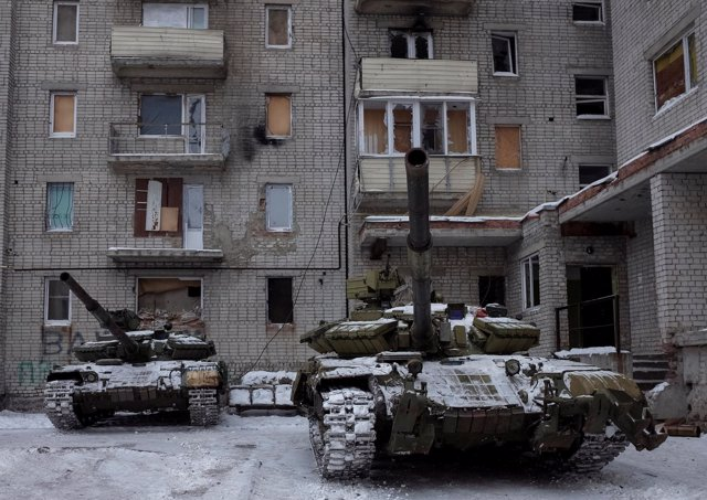 Tanques ucranianos en  Avdiyivka