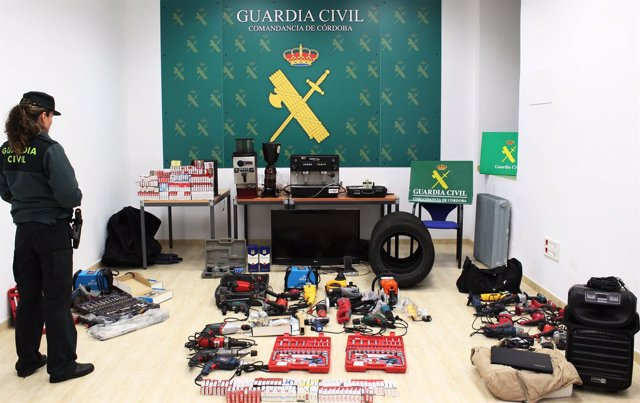 Efectos intervenidos por la Guardia Civil