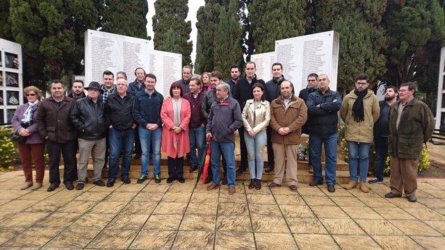 Acto del PSOE-A de memoria democrática en Andújar (Jaén)