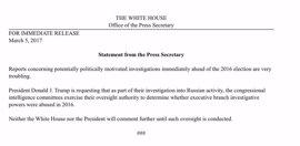 Trump pide al Congreso que investigue el supuesto espionaje de la administración Obama a su campaña electoral