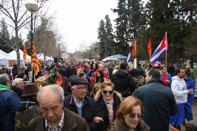 Celebración de la Cincomarzada en Zaragoza.