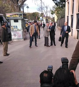 El presidente Pedro Antonio Sánchez en los juzgados