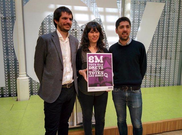 Ernest Urtasun, Cristina Bigordà, David Cid (ICV)