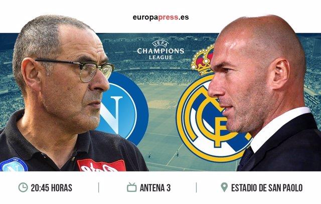 Horario y dónde ver el Nápoles - Real Madrid | Vuelta octavos de final Champions