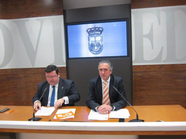 Los concejales de Cs, Luis Pacho y Luis Zaragoza.