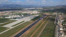El aeropuerto de Son Bonet finaliza la obra de renovación del pavimento de su pista de vuelo