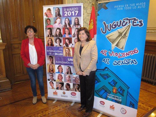 Las concejales de Valladolid Rafaela Romero y Victoria Soto