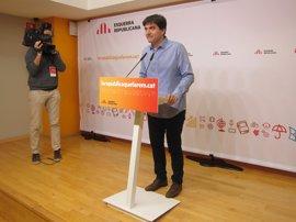 """ERC se reivindica como un partido limpio y pide al resto """"exigencia"""" contra la corrupción"""