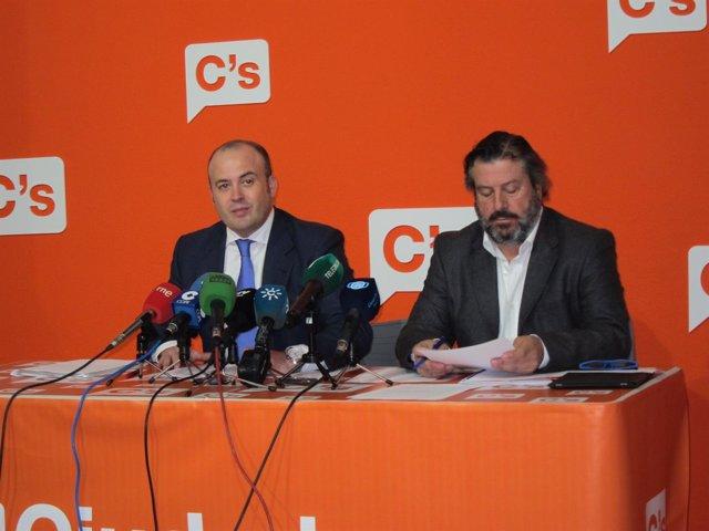 El diputado autonómico de Ciudadanos y portavoz de Cs en Huelva, Julio Díaz.