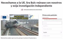 La campaña para que la comisaria de Transporte reciba a las víctimas del Alvia suma casi 20.000 firmas