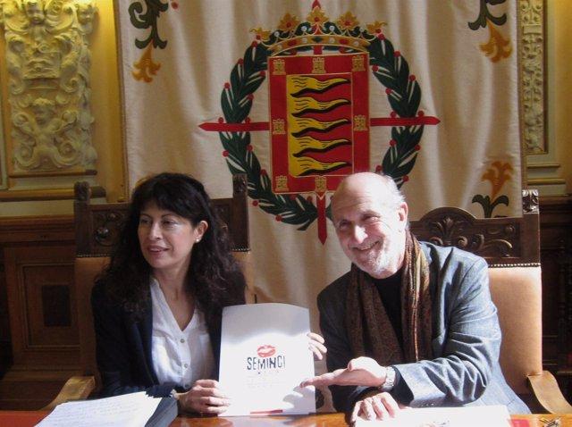 La concejal Ana Redondo y el director de Seminci, Javier Angulo