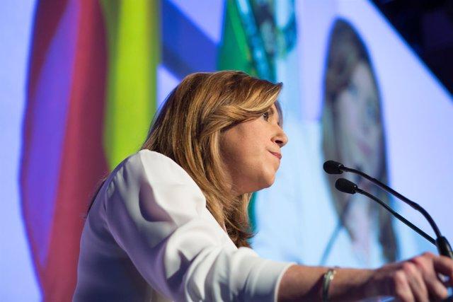 Susana Díaz interviene en la entrega de los premios Meridiana