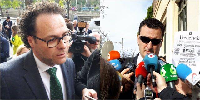 Los abogados José Miguel Muñoz y Ginés Ruiz