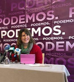 Carmen Santos, secretaria xeral de Podemos Galicia