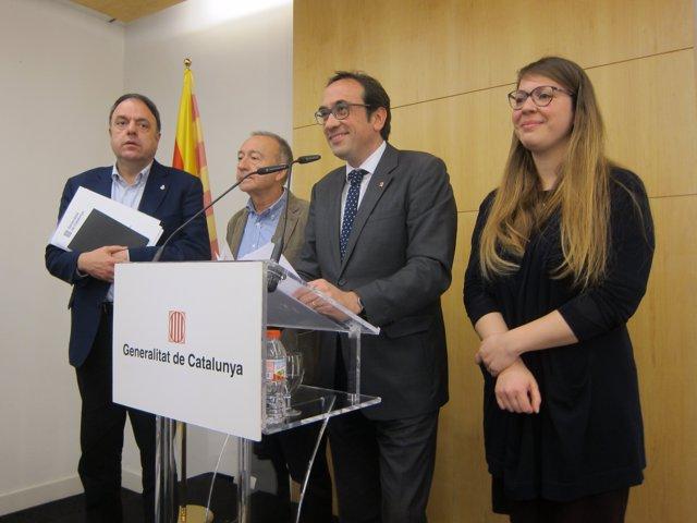 Valentí Junyent, Antoni Poveda, Josep Rull Y Janet