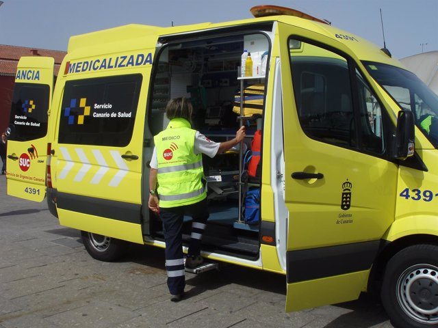 Ambulancia medicalizada del SUC