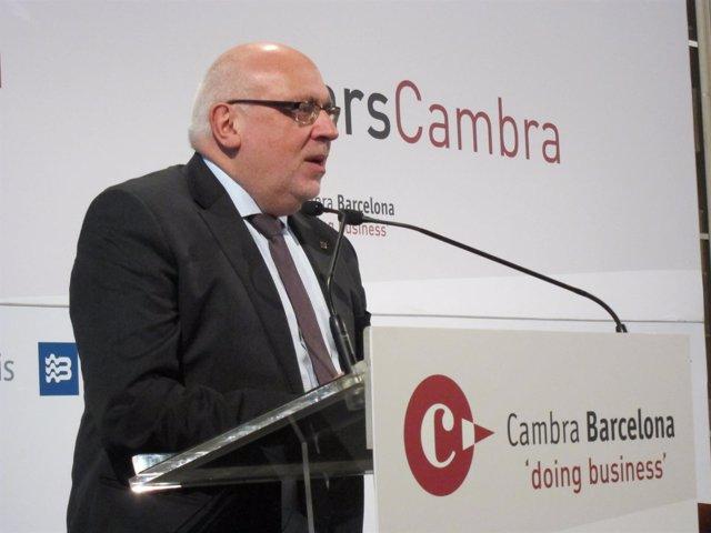 El conseller Jordi Baiget en la Cámara de Comercio de Barcelona