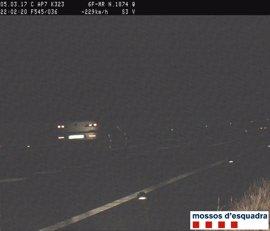 Detenido un conductor que iba a 229 km/h por la AP-7 en L'Aldea (Tarragona)