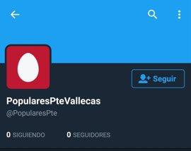 PP Puente de Vallecas pide a la Gestora que ayude a Policía a investigar el intento de suplantar su identidad en Twitter