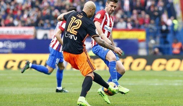 Zaza y Gabi en el Atlético - Valencia