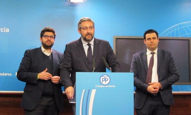 López Miras, Martínez y Zamora