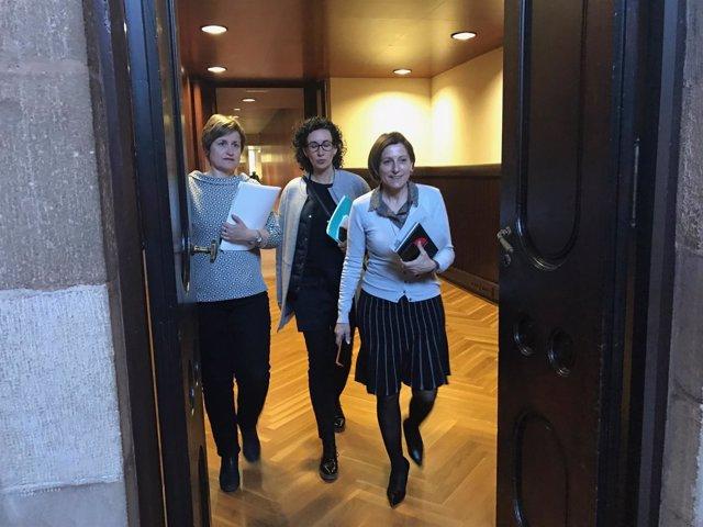 Reunió de JxSí amb A.Simó, M.Rovira y C.Forcadell