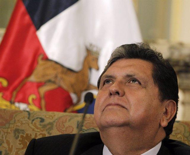 El expresidente de Perú Alan García.