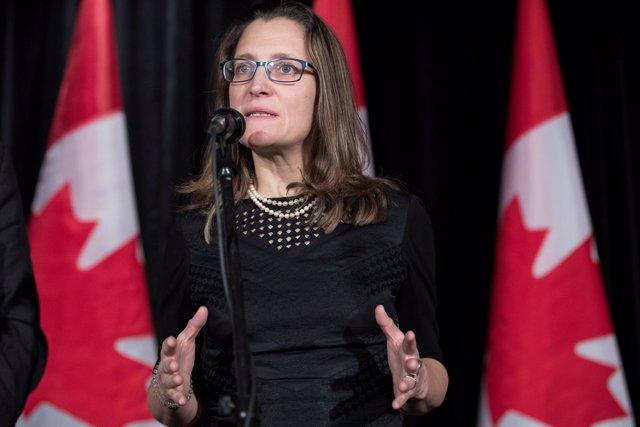 Ministra de Asuntos Exteriores de Canadá Chrystia Freeland