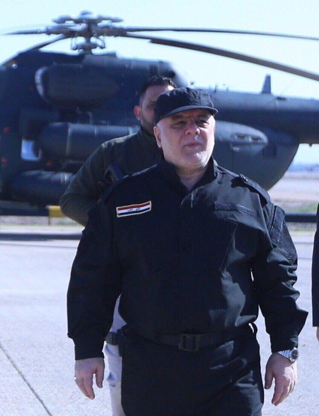 Haider al Abadi, el primer ministro iraquí, en Mosul