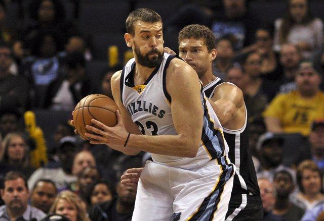 Marc Gasol en el Memphis Grizzlies - Brooklyn Nets