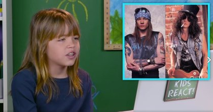 VÍDEO: Así reaccionan niños de 5 a 14 años al escuchar y ver por primera vez a Guns n' Roses