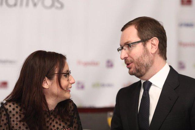 Andrea Levy y Javier Maroto en los Desayunos de Europa Press