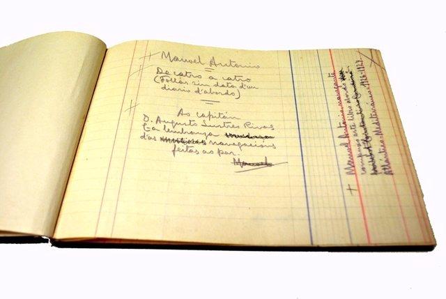 Manuscrito inédito de 'De catro a catro', de Manoel Antonio