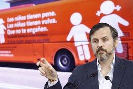"""Hazte Oír pone en su lema la palabra """"censurado"""" en su bus que irá a Cibeles para defender la """"libertad de expresión"""""""