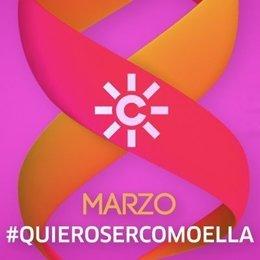 Logo promocional de Canal Sur con motivo del Día de la Mujer