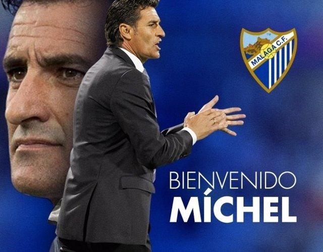 Míchel llega al Málaga