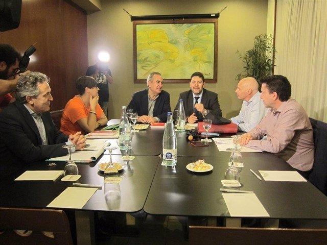 Imagen de archivo de un encuentro entre Tovar y Sánchez