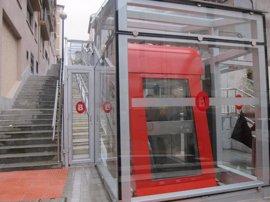 Bilbao pone en marcha el ascensor inclinado que conecta Atxuri con Ollerías Altas, tras una inversión de 852.000 euros