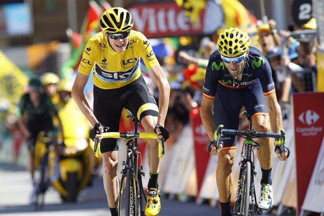 Tour de Francia 2015, Alejandro Valverde, Chris Froome