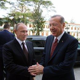 Vladimir Putin con Erdogan.