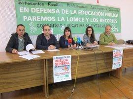 La Plataforma por la Educación Pública en Extremadura convoca nueva huelga de enseñanza para la derogación de la LOMCE