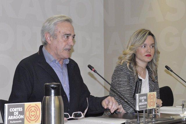 Javier Sada y Pilar Alegría