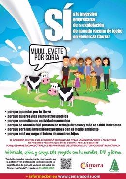 Soria: Cartel de apoyo a la explotación de Noviercas