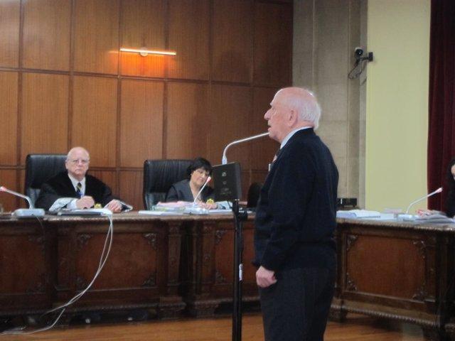 El acusado prestando declaración en el juicio