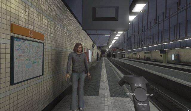 Simulación con realidad virtual de una emergencia en una estación de FGC