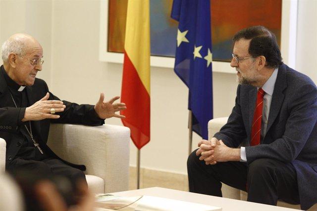 Rajoy recibe en La Moncloa al presidente de la Conferencia Episcopal Española