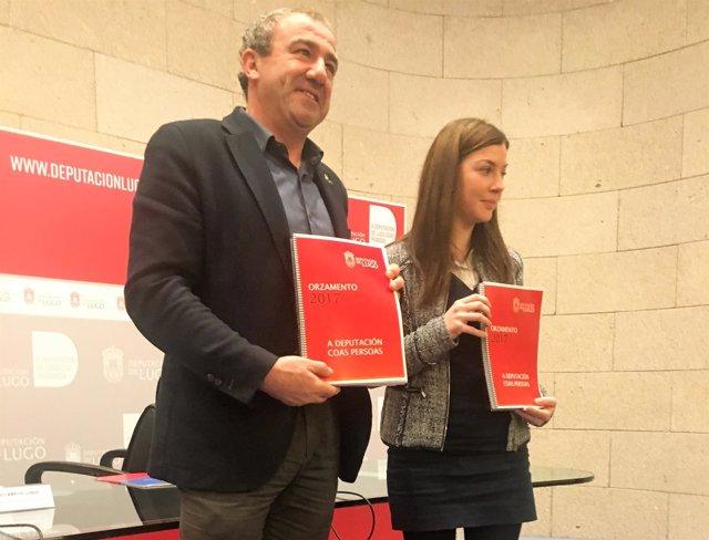 Presentación de los presupuestos de la Diputación de Lugo, con Darío Campos